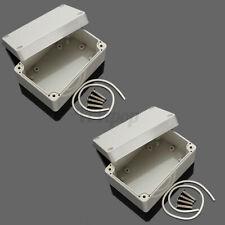2pcs 4 X 26 X 2 Abs Plastic Electronics Enclosure Project Box Hobby Case