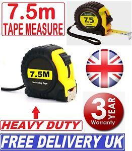 Tape Measure 7.5M/25ft QUALITY TOOL Measurement Lock Mechanism Metre Cm Inch