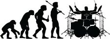 "Drummer Evolution Decal Sticker Car Truck Window- 6"" Wide White Color"