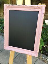 Shabby Chic Wooden Chalk Message Black Board Wedding Display Home Decor Pink