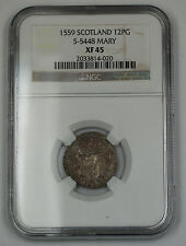 1559 Scotland 12 Penny Groat Silver Coin S-5448 Francis & Mary NGC XF-45 AKR
