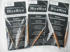 "HiyaHiya 5.0mm x 40cm (16"") Bamboo Circular Knitting Needles"