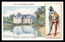 CPA chocolaterie AIGUEBELLE-chateaux D'AZAY-LE-RIDEAU- JEAN SANS PUER