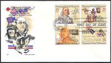 USA 1993 POST/Trasporto/mail/Treni/Piano/Cavallo/Aviazione/Museo 4 V FDC (n40915)