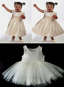 BABY PETTICOAT CHRISTENING  DRESS NET UNDERSKIRT ages NEWBORN -18 Months