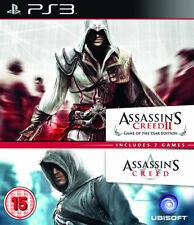 Assassins Creed 1 & 2-Doble Pack PS3 * En Excelente Estado *