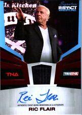 TNA Ric Flair 2011 Signature Impact Autograph Memorabilia Suit Relic Card SN 5/5