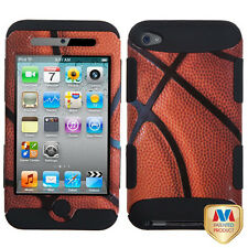 Apple iPod Touch 4 4th Gen Rubber IMPACT TUFF HYBRID Case Skin Cover Basketball