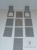 LEGO® Star Wars 10x Falltür Tür Platte 6x8 dunkelgrau 92099+92107 75059 NEU R752