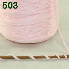 1 Cone 400g Worsted Cotton Chunky Super Bulky Hand Knitting Yarn Baby Pink