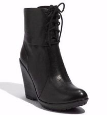 KORK EASE ALYSSA WEDGE LACE UP BOOTS BOOTIES BLACK LEATHER $245 10