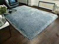 SALE Extra Thick Pearl Duck Egg Blue Shaggy Rug in various sizes