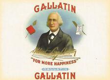 Gallatin Albert F. Gallatin Cigar Co. cigar label