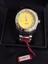 Swiss Legend Commander yellow face dial stainless steel men's watch SL10059-71