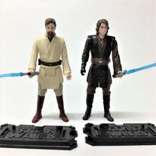 2PCS Star Wars OBI-WAN KENOBI & ANAKIN SKYWALKER REVENGE 3.75'' Hasbro Figure