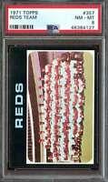 1971 TOPPS #357 REDS TEAM PSA 8 REDS  *K4621