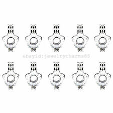 #L3-10pcs Oyster Pearl Beads Cage Pendant Bright Silver 21mm Hollow Star Flower