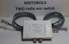 Motorola MICROPHONE Switch TWO Radios or 2 Mic 8 Pin flat CDM GM300 Maxtrac, etc