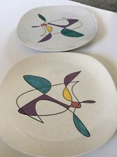 Set Of 2 Metlox Poppytrail California Mobile Square Platter Chargers Mid Century