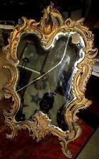Miroir De Table à Poser, Bronze Doré, Louis XV, Rocaille Début 19 éme