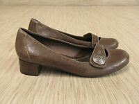 Clarks Artisan Brown Leather Heels Women's Size US 7.5 M Low Heel Casual Shoes