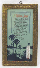 Vintage Framed Motto Print with Thermometer A Million Joys Palm Trees