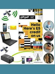 GiffGaff Sim Card Pay As You Go £5, FREE GPS Phone WiFi Tesco Virgin O2 EE k