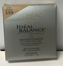 Loreal Ideal Balance Pressed Powder for Combination Skin, DEEP FONCE 359
