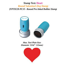 Heart Stamp Pc15 Pre Inked Rubber Valentines Day Stamp Red Ink