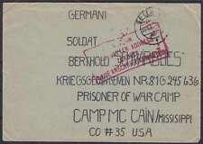 Correo kgf POW camp mc cain EE. UU. de Celle 1946 r4 dirección, prisioneros de guerra post