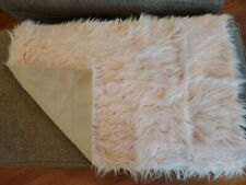 "Snugtown Faux Fur Bedroom Throw Rug - Suede Botton- Pink - 36""x24"""
