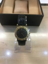 Bvlgari 18K Yellow Gold & Leather Strap Ladies Watch Same Day Delivery