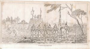 A Chinese military post soldiers early 19th century print copied from Staunton