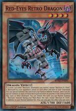 BOSH-EN095 1x RED-EYES RETRO DRAGON (DRAGO RETRO OCCHI ROSSI) Super Rare Yugioh