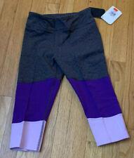 Reebok Girls Capri Size S Gray & Purple New!