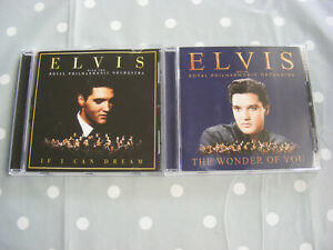 Elvis Royal Philharmonic Orchestra 2 x CDs The Wonder Of You & If I Can Dream