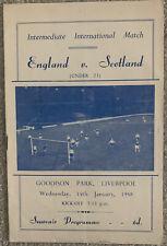 More details for england v scotland u23 international played @ everton 1957/58