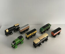 7 Battat Toys R Us & Thomas Mixed Wooden Engine Train Lot Compatible Thomas