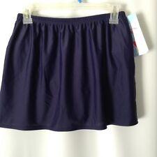 Christina Swim Skirt Skort Size 14 / 36 Navy Blue Style # JF1383DB New With Tags
