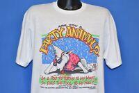 vintage 80s SPUDS MACKENZIE SPOOF BIBLE VERSUS CHRISTIAN DRUNKARD t-shirt L