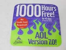2001 AOL 7.0 America Online 1000 CD Disc Rom Collectible Flame