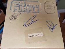 Deep Purple Signed Ian Gillan Ian Paice Roger Glover Autograph COA
