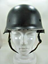 Stahlhelm schwarz Feuerwehr mit Innenfutter Größe 60 - vor 1945 gefertigt (3)