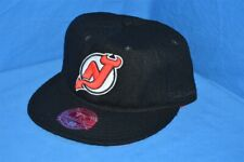 NEW JERSEY DEVIL MITCHELL & NESS TEAM PREFERRED MELTON WOOL HAT CAP FITTED 7 5/8