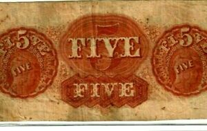 """$5 """"EAST TENNESSEE"""" (REDBACK)1800'S $5 """"EAST TENNESSEE"""" (RED BACK) $5  NICE !!!!"""