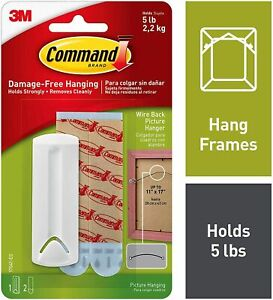 3M Command Picture, Frame Hanger Hook Kits with Strips Hanging hold 1.8-3.6kg .