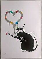 Banksy  screen print Love Rat DELUXE EDITION Damien Hirst Gross Domestic Product