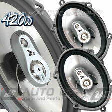 "FLI FI57 Integrator 5x7"" 3-Way Coaxial 420 Watts Van Car Door Speakers Set"