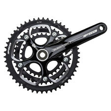 FSA Gossamer BB30 Road Crankset Triple, 175, 50/39/30, N10, Black