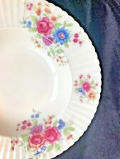 "Lenox China Victoria Soup Bowl 312743 Rimmed 0-480 Floral 8 3/4"" Pink Green"